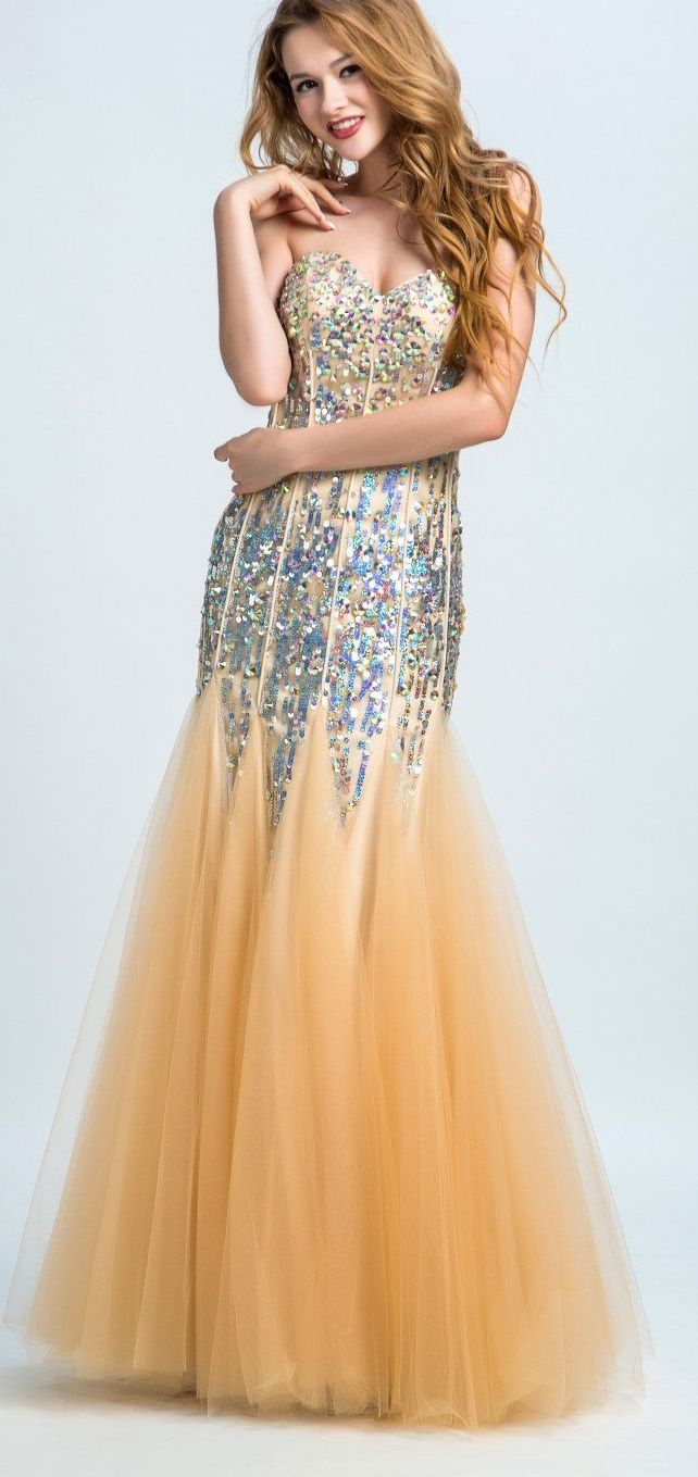 Customized rhinestone yellow evening prom dresses comfortable long