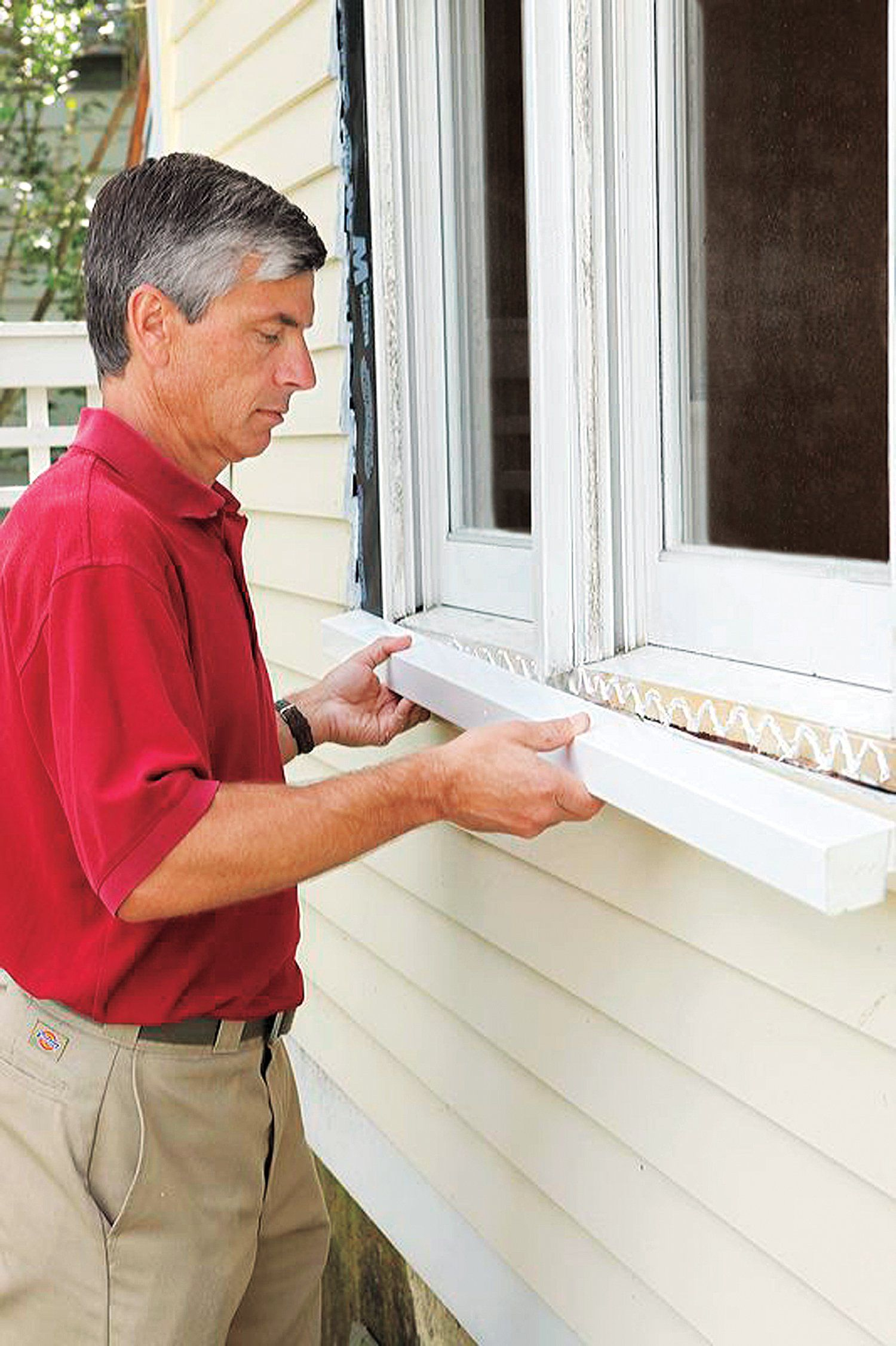 How To Repair A Rotted Windowsill Window Trim Exterior Window