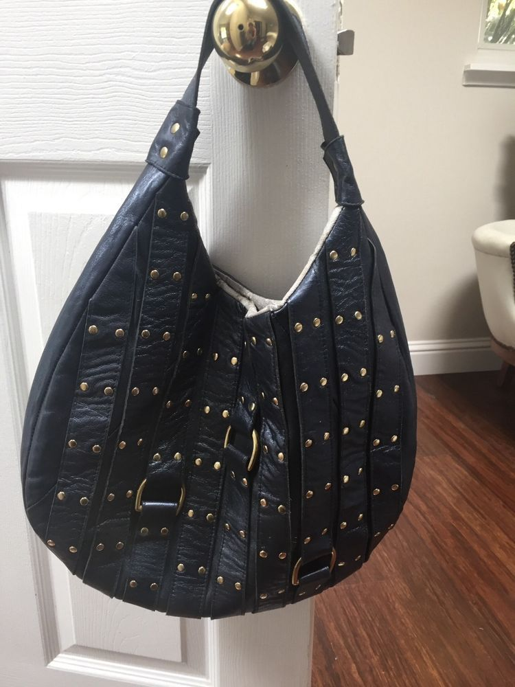 Blue Leather Handbag By Candice Nicole Fashion Clothing Shoes Accessories Womensbagshandbags Ebay Link