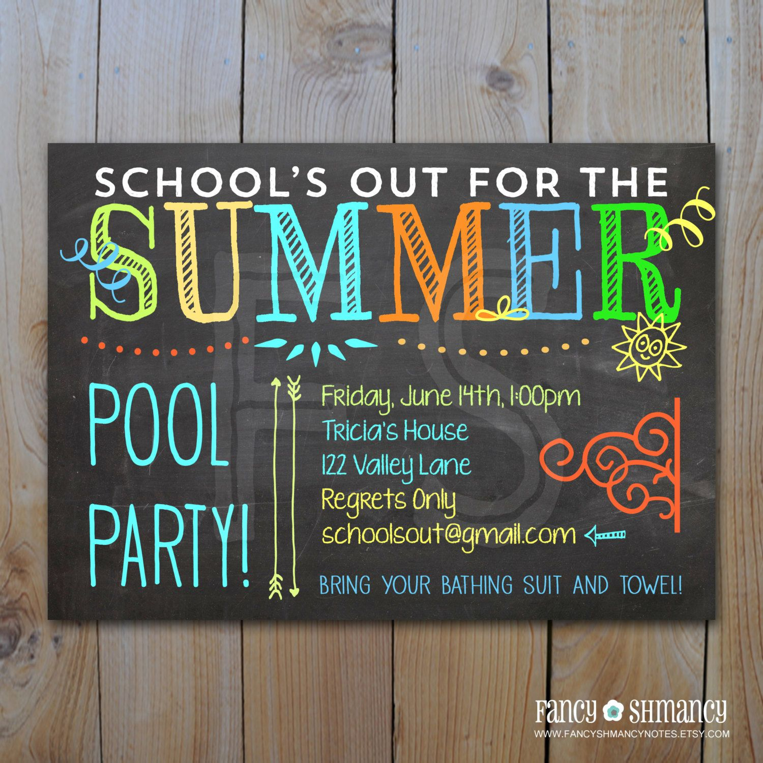 pool party end of school invitations google search pool fun
