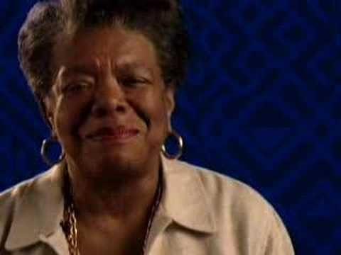 Maya Angelou, like a boss, as usual. Ladies, rise.