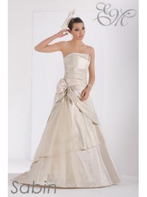A-linie Bodenlang Billiges Brautkleid aus Taft mit Schärpe | Kleider ...