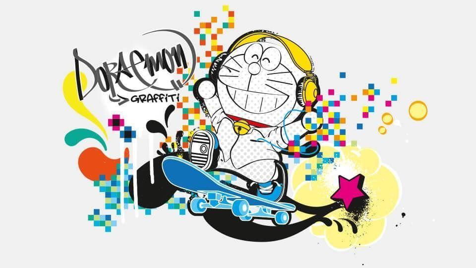 11 Gambar Kartun Keren Abis Gambar Animasi Keren 707 Gambar Doraemon Lucu Wallpaper Foto Keren Terbaru 2019 Down Di 2020 Kertas Dinding Lucu Gambar Grafit Graffiti