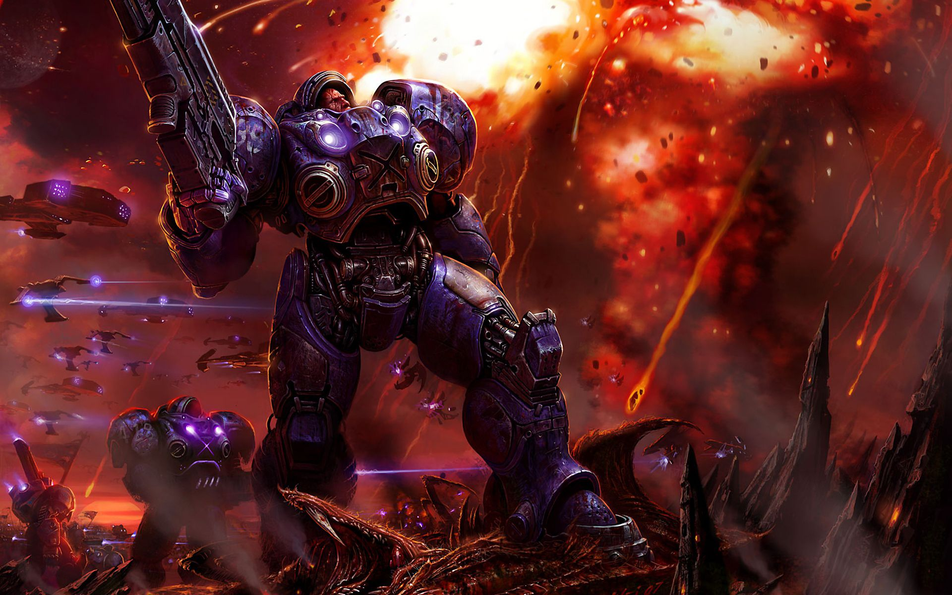 My Free Wallpapers Games Wallpaper Starcraft  Terran