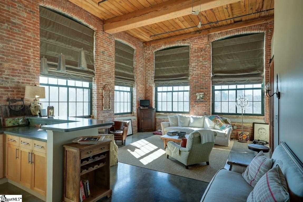 Love The Big Windows Windows Treatments W Exposed Brick In This