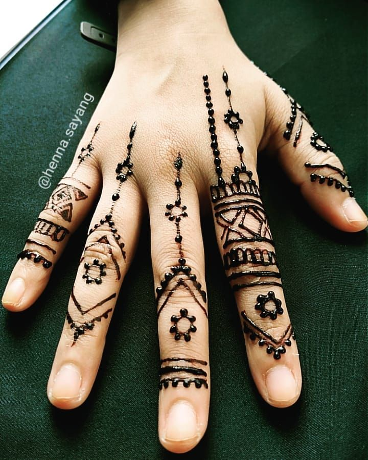 "Mehjabeen 🤗 henna artist on Instagram ""🌿Finger henna"