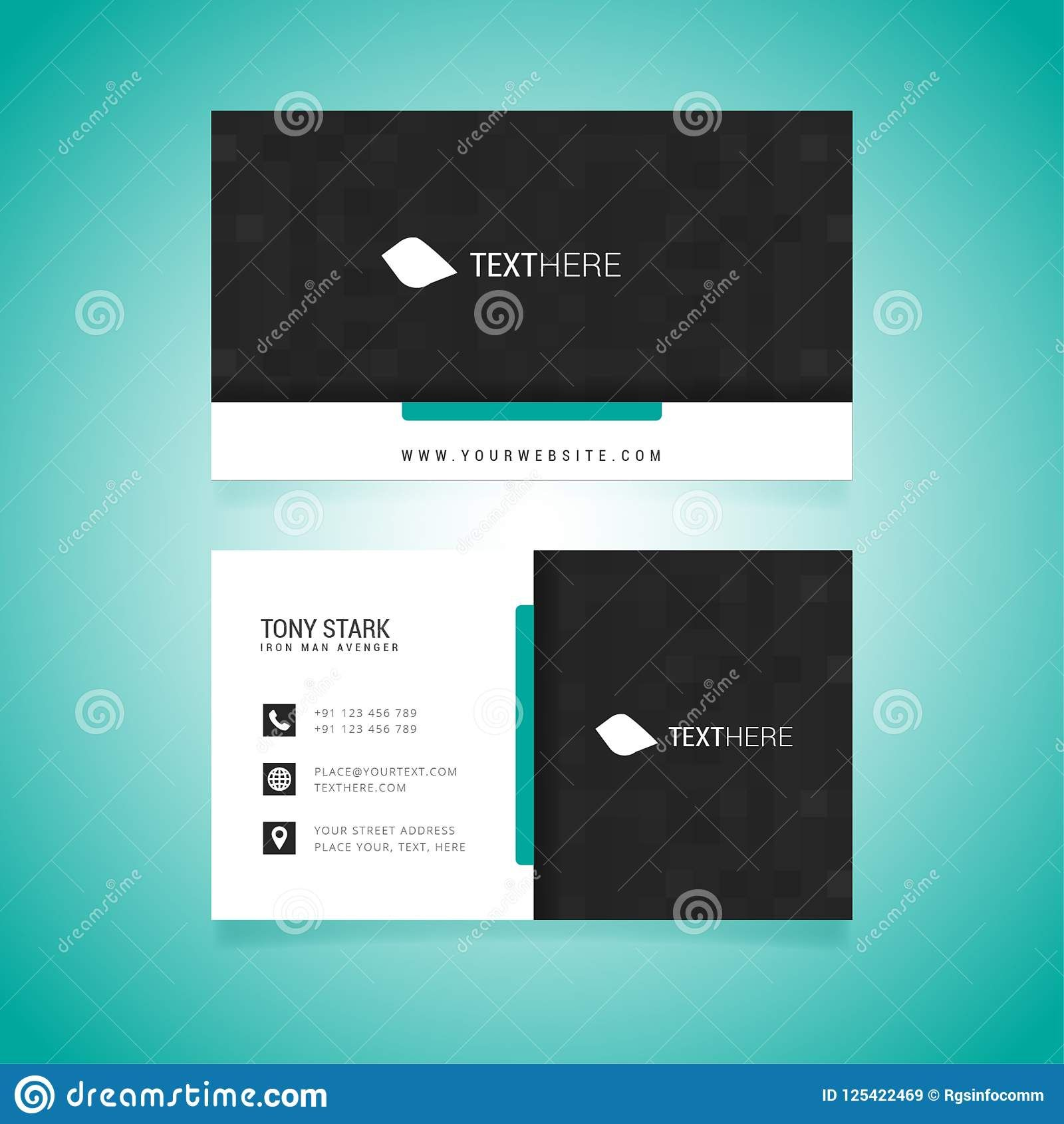 Business Card Vector Template Stock Vector Illustration Of Perta Business Cards Vector Templates Illustration Business Cards Business Card Template Photoshop
