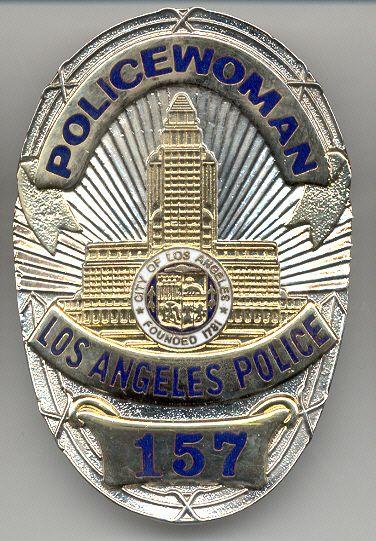 Los Angeles Policewoman Insignias Policia Policiales
