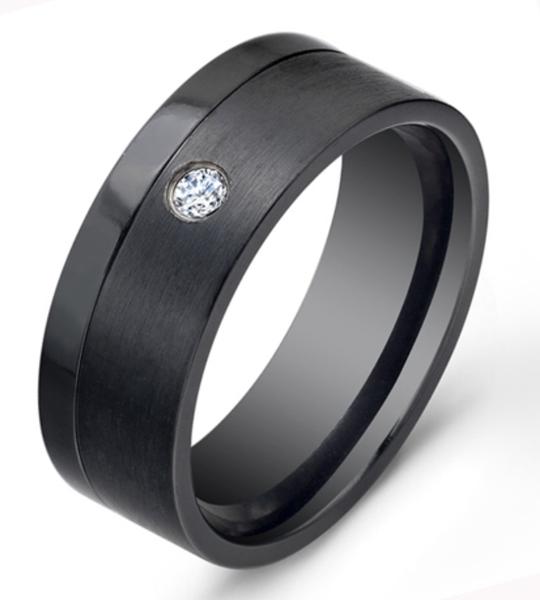 Obsidian Titanium Wedding Rings Cool Wedding Rings Wedding Ring Designs