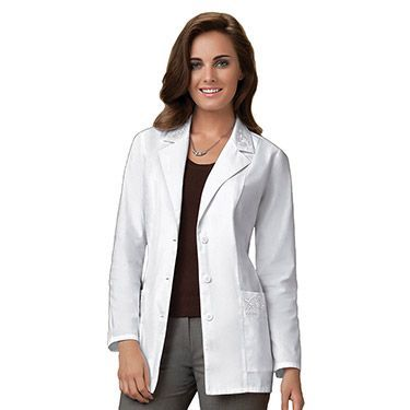 If you're in need of a long white lab coat, this is a good treat for you.  It's 40 inches in length and comes with free embroidery at the first line  and ...