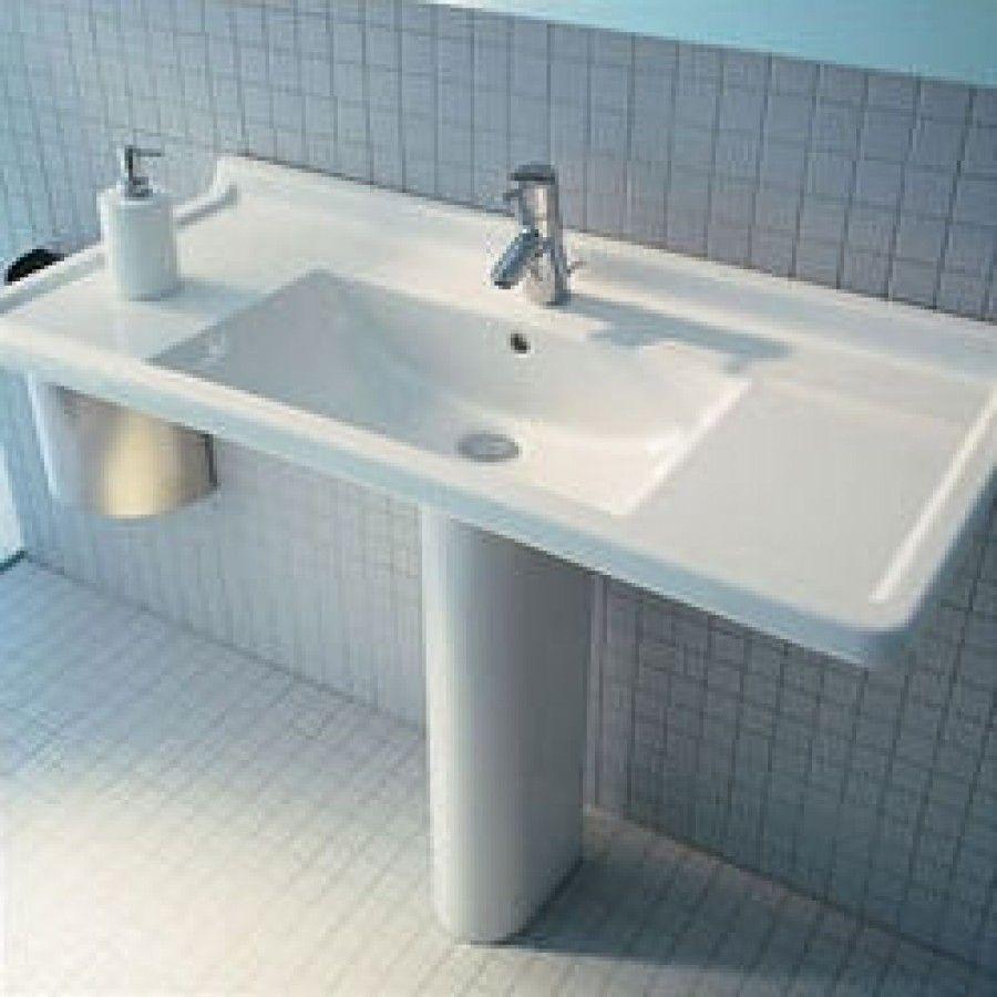 Duravit Starck 3 33 5 Pedestal Bathroom Sink D19026 Bathroom