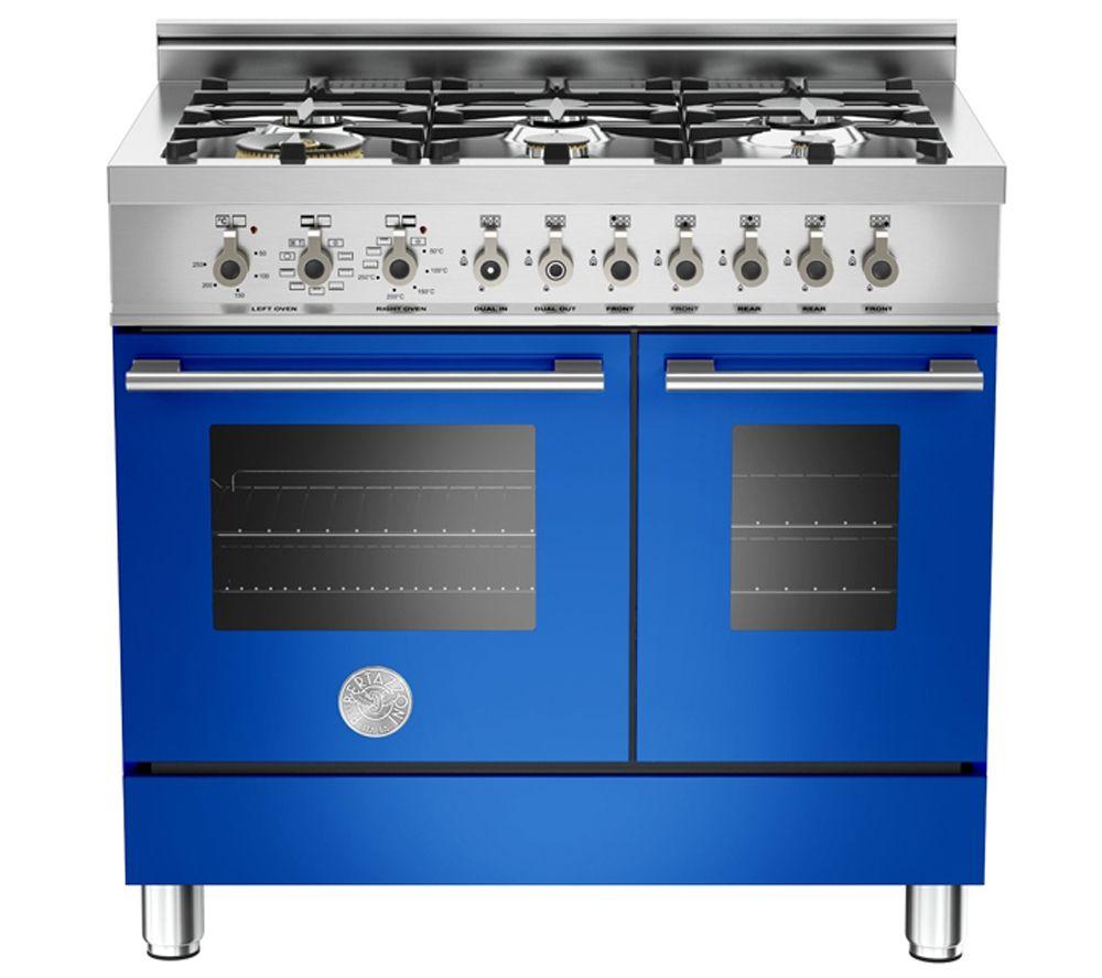 Bertazzoni Professional 90 Dual Fuel Twin Range Cooker Blue Range Cooker Kitchen Household Appliances [ 887 x 1000 Pixel ]