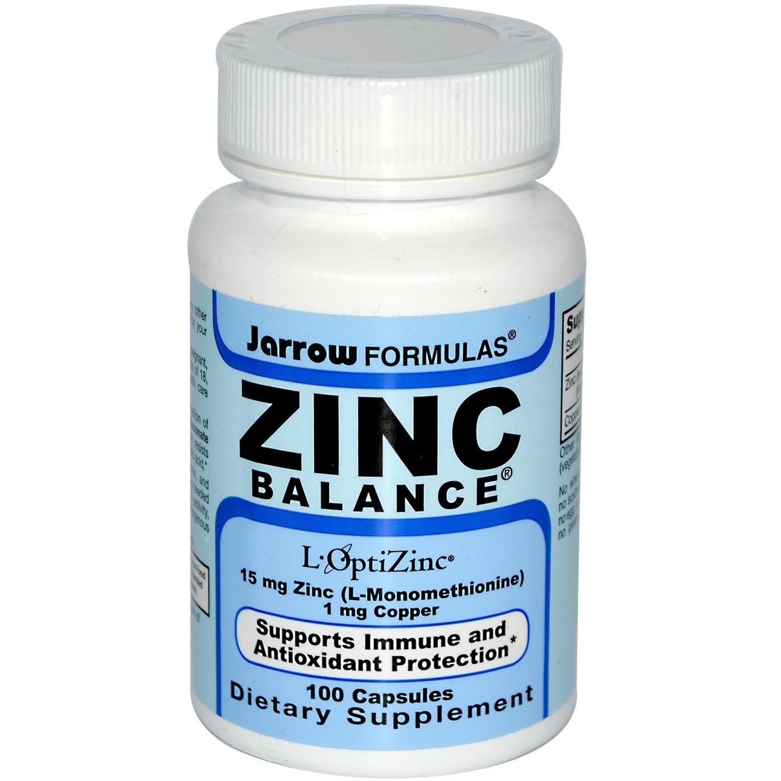 Jarrow Formulas Zinc Balance 100 Veggie Caps Veggie Caps Dietary Supplements Dietary