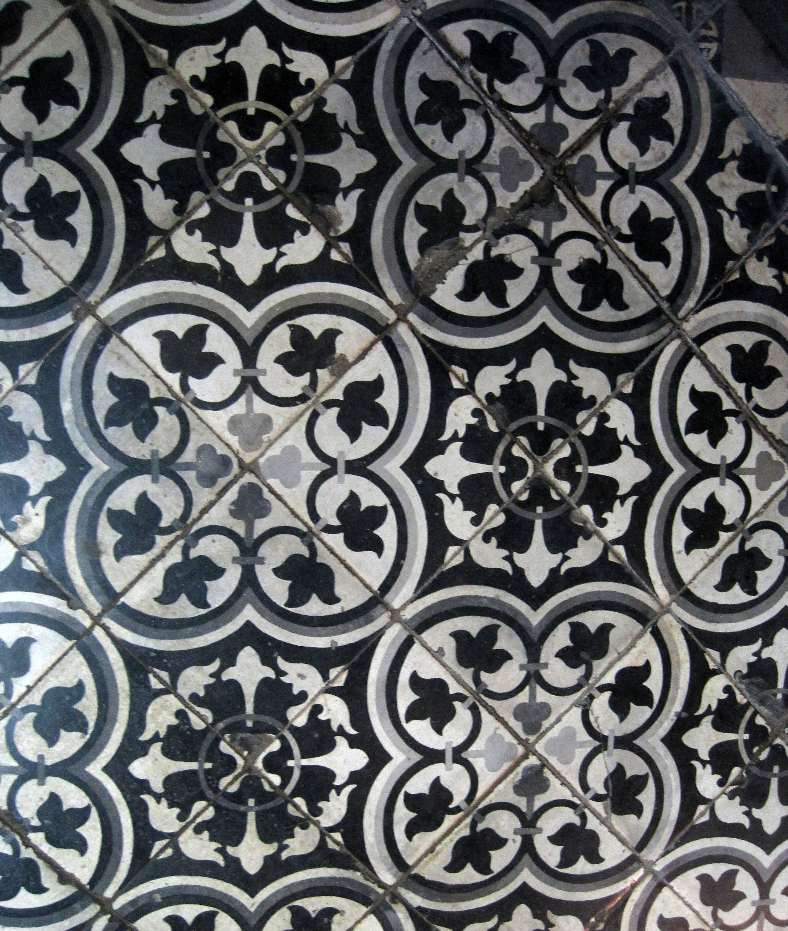 Tile floor - Hoi An, Vietnam. obviously a different color for you ...