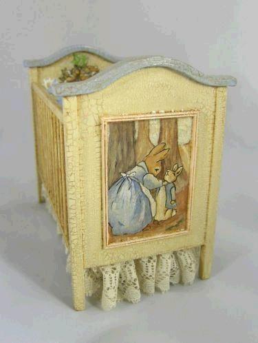 Beatrix potter hand painted crib princess sugar for Beatrix potter bedroom ideas