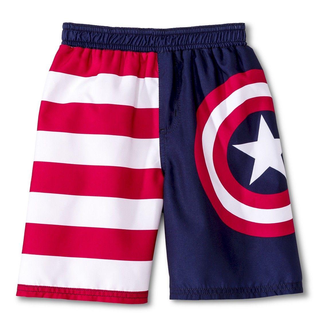 1b07df0c11 Toddler Boys' Captain America  Swim Trunks - Blue/Red | Clothes ...