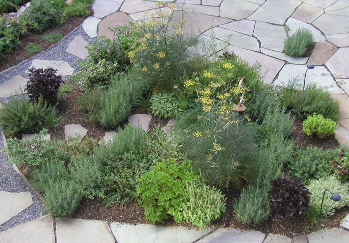herb gardens can be integrated into your landscape design