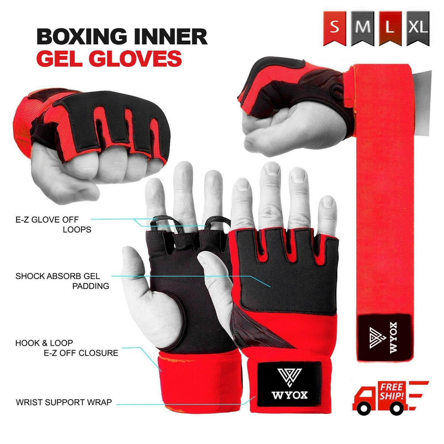 Boxing Bandages Hand Wraps Wrist Protecting Fist MMA Inner Gloves Mexican Style