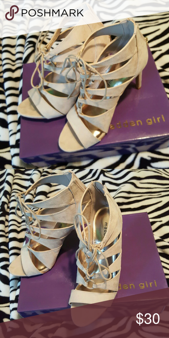Madden Girl pumps Size 7 1/2 Madden Girl lace up heels worn once Madden Girl Shoes Heels
