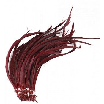 """Goose Biot Feathers-Dyed - Copper Product SKU: GBSS Size: 6-8"""" (strung feathers) Shop Feathers: www.featherplace.com"""