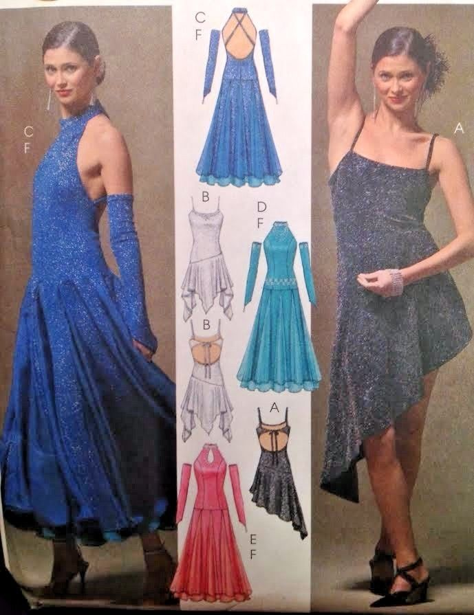 c713ce117b44e UC McCalls M5136 Sew Pattern Dance Costume Tango Glove Dress Ballroom Jazz  Salsa #McCall