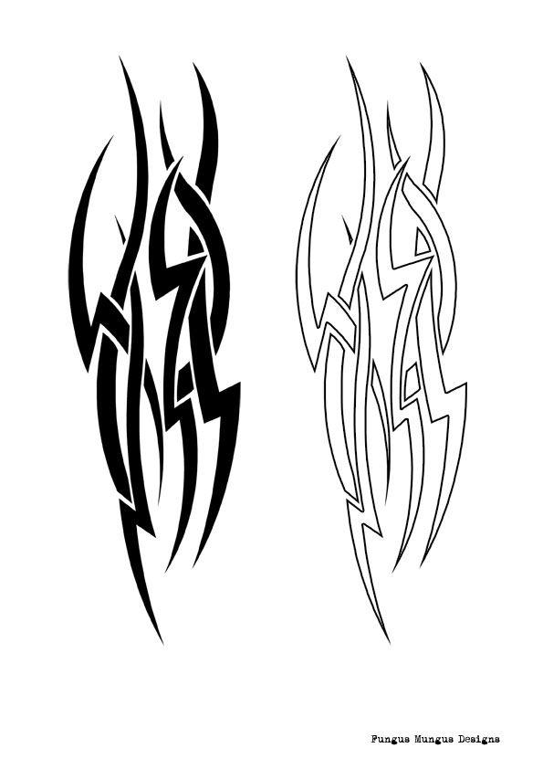 f64c8e925d4e7 Black And Outline Tribal Tattoo Designs | tattoos | Tribal tattoo ...