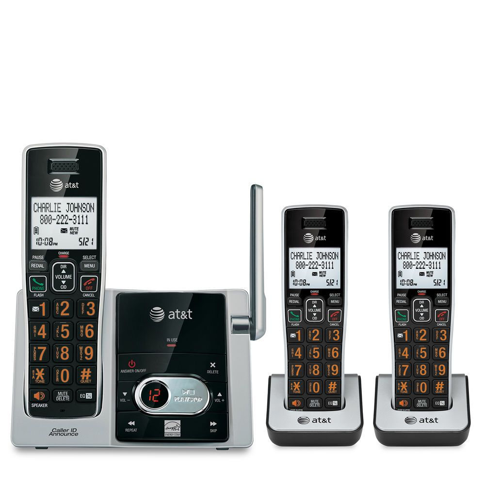 3-handset cordless answering system with caller id and call waitinghome best