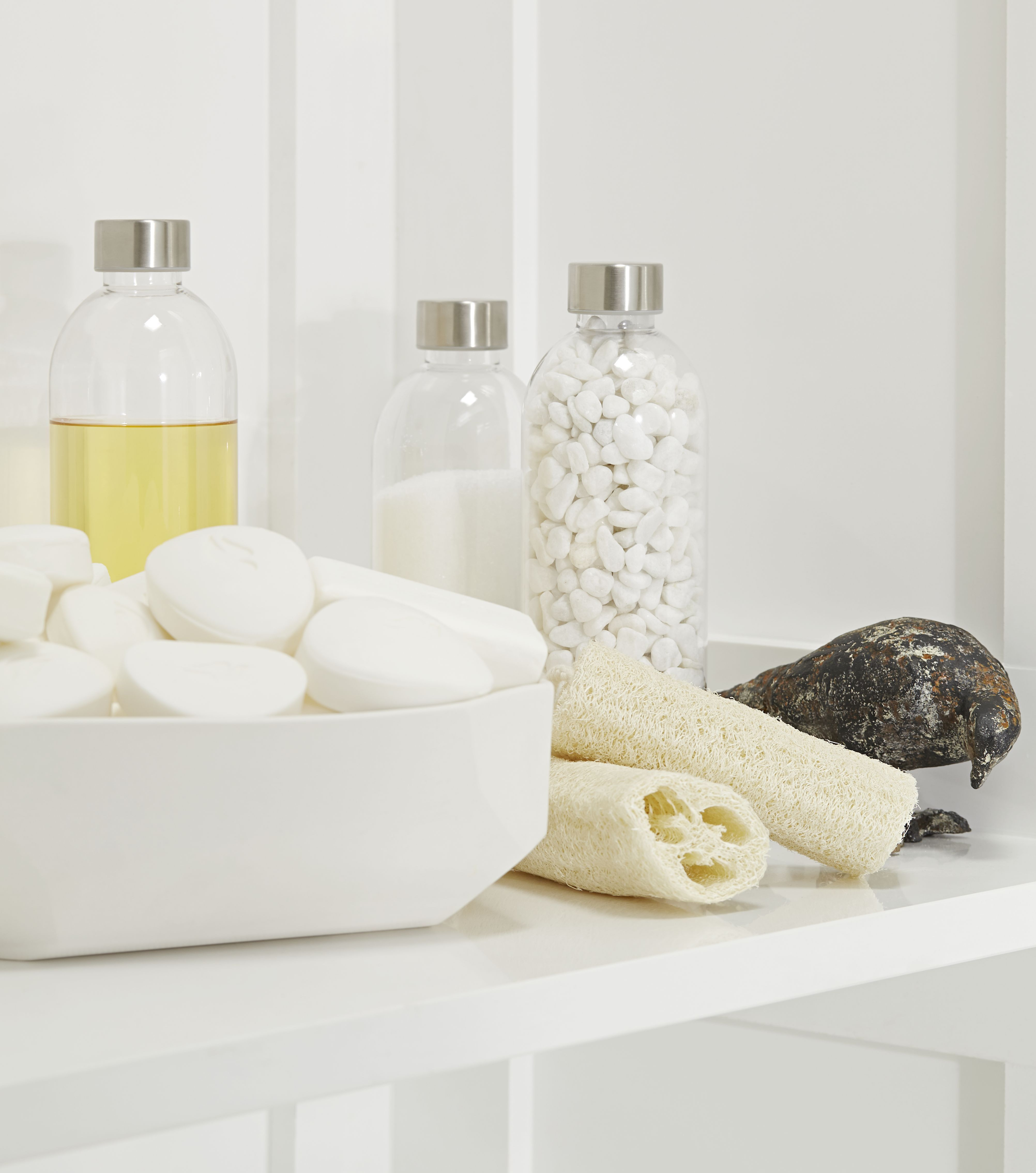 HanStone Royal Blanc Vanity in Powder Room