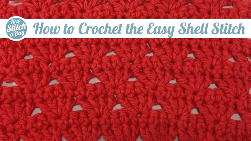How to Crochet the Easy Shell Stitch | Crochet | Pinterest