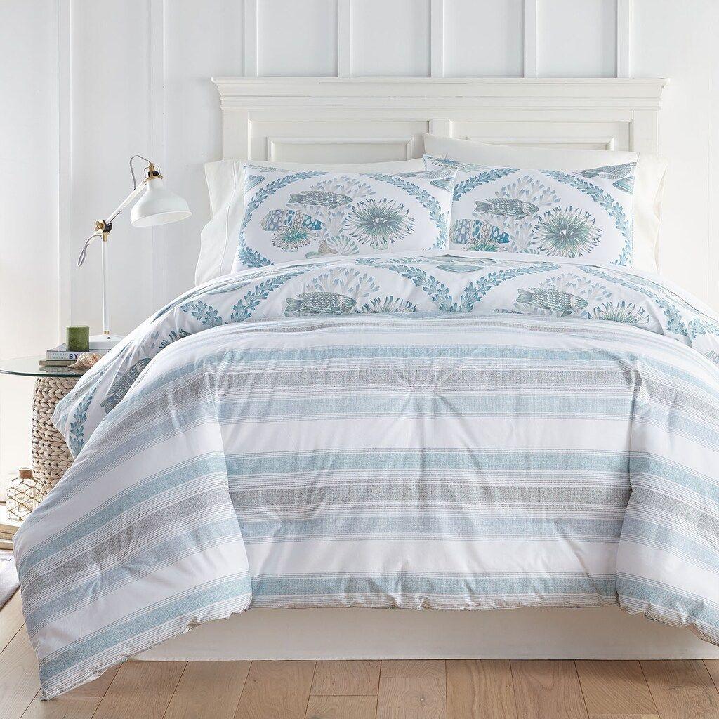 Cavaleiro Coastal Comforter And Sham Set Blue Queen In 2020