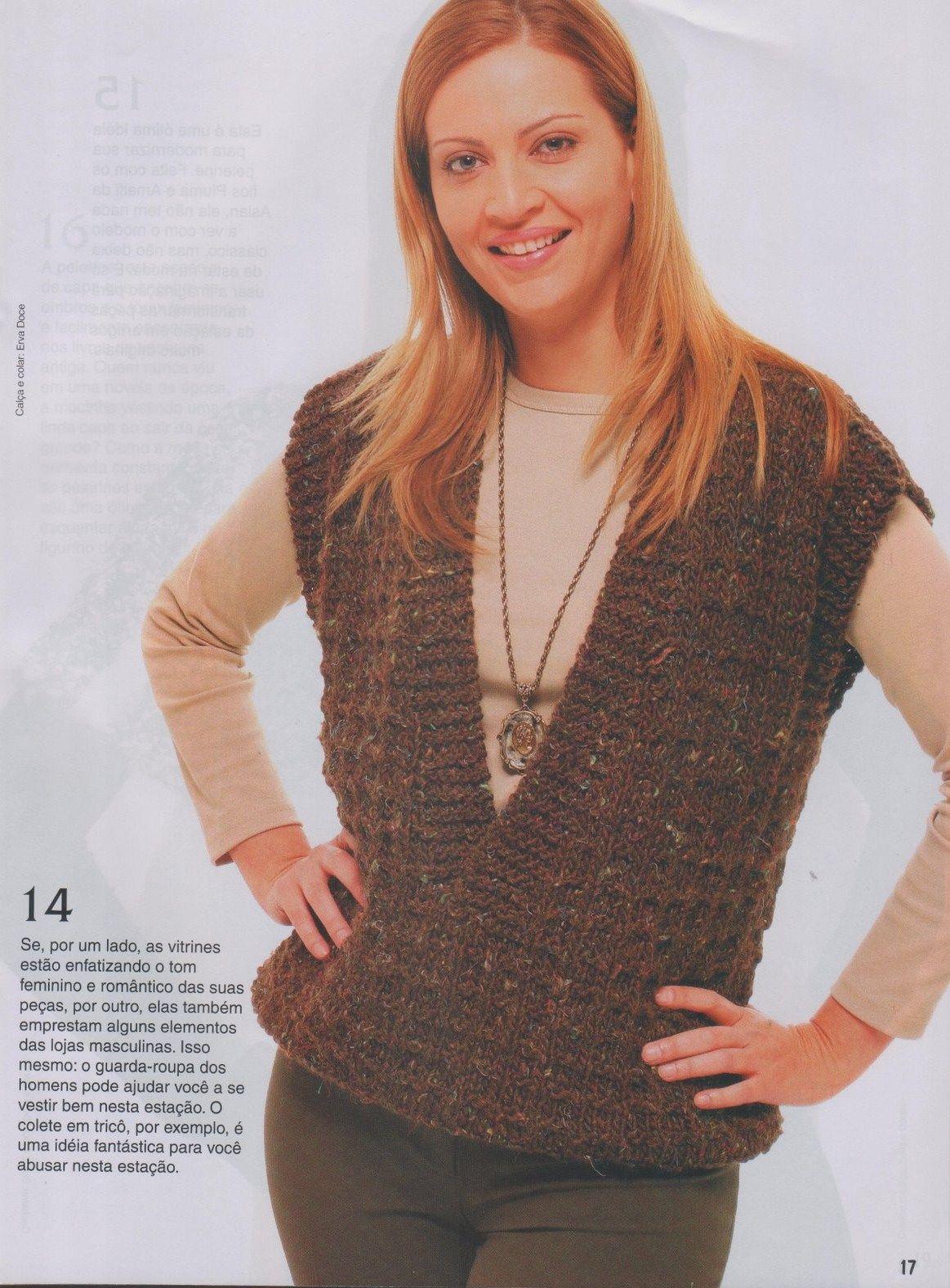 Receita Tricô Fácil Revista Online FIGURINO TRICÔ E CROCHÊ Modelos  imperdíveis Escolha o casaco que mais combina com seu estilo. c2398ff42ec