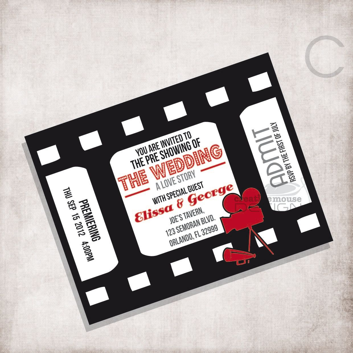 Love it! | My dream wedding: Movie Invitation | Pinterest