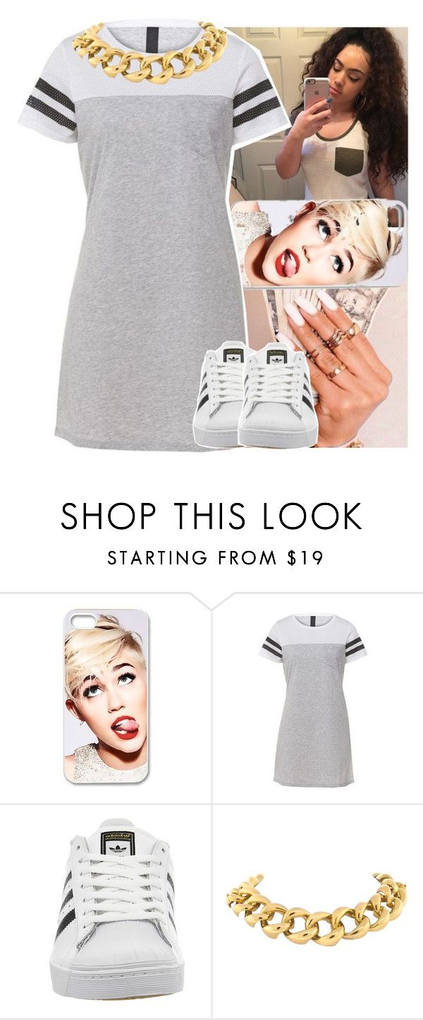 """"""""""" by daeethakidd ❤ liked on Polyvore featuring Cyrus, adidas and Seaman Schepps"""