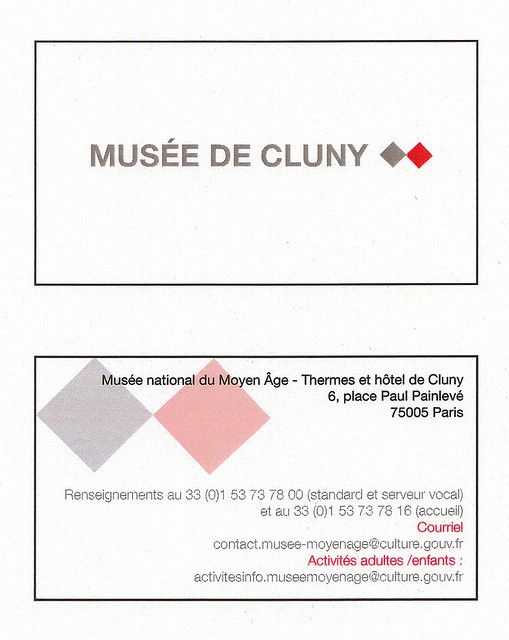 Musée de Cluny Business Cards Pinterest Business cards and