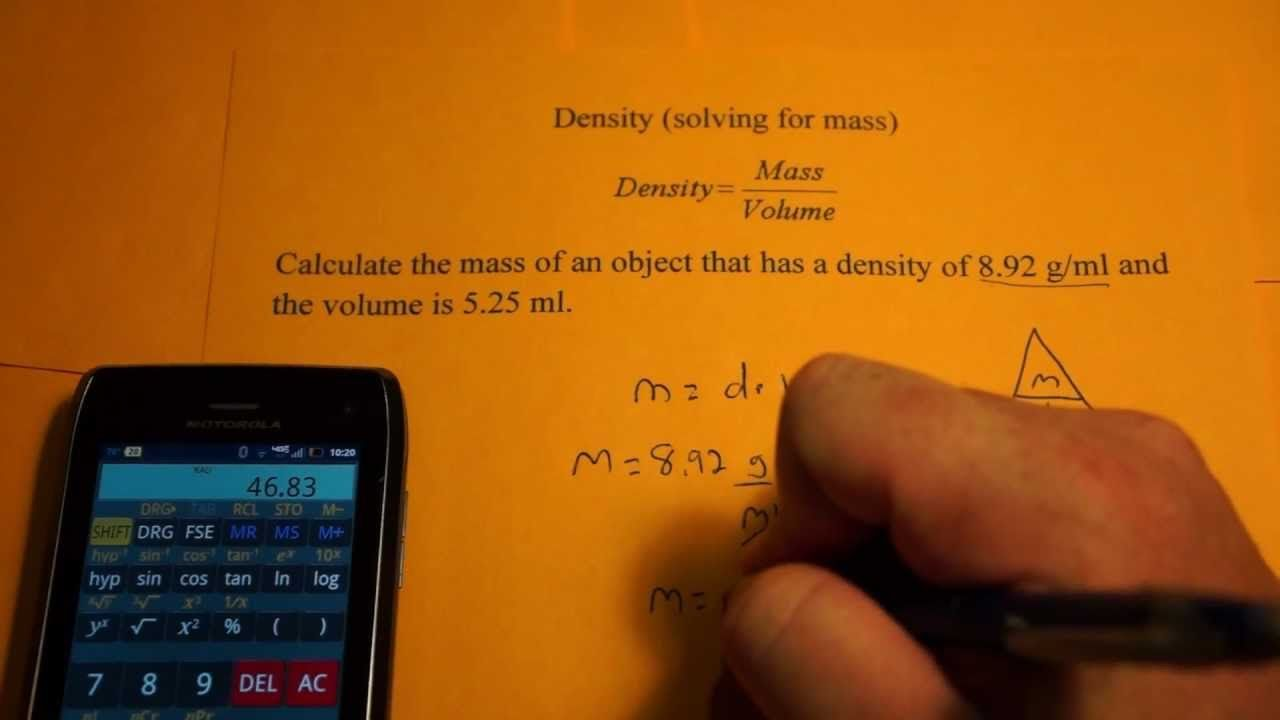 Determining mass from density and volume quick trick the mass determining mass from density and volume quick trick the massvoldensity biocorpaavc