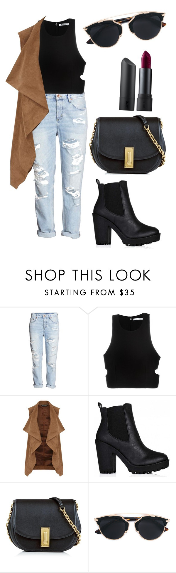 """""""rocker vibes"""" by fashionblogger2122 on Polyvore featuring T By Alexander Wang, Dorothy Perkins, Marc Jacobs, Christian Dior and Bite"""