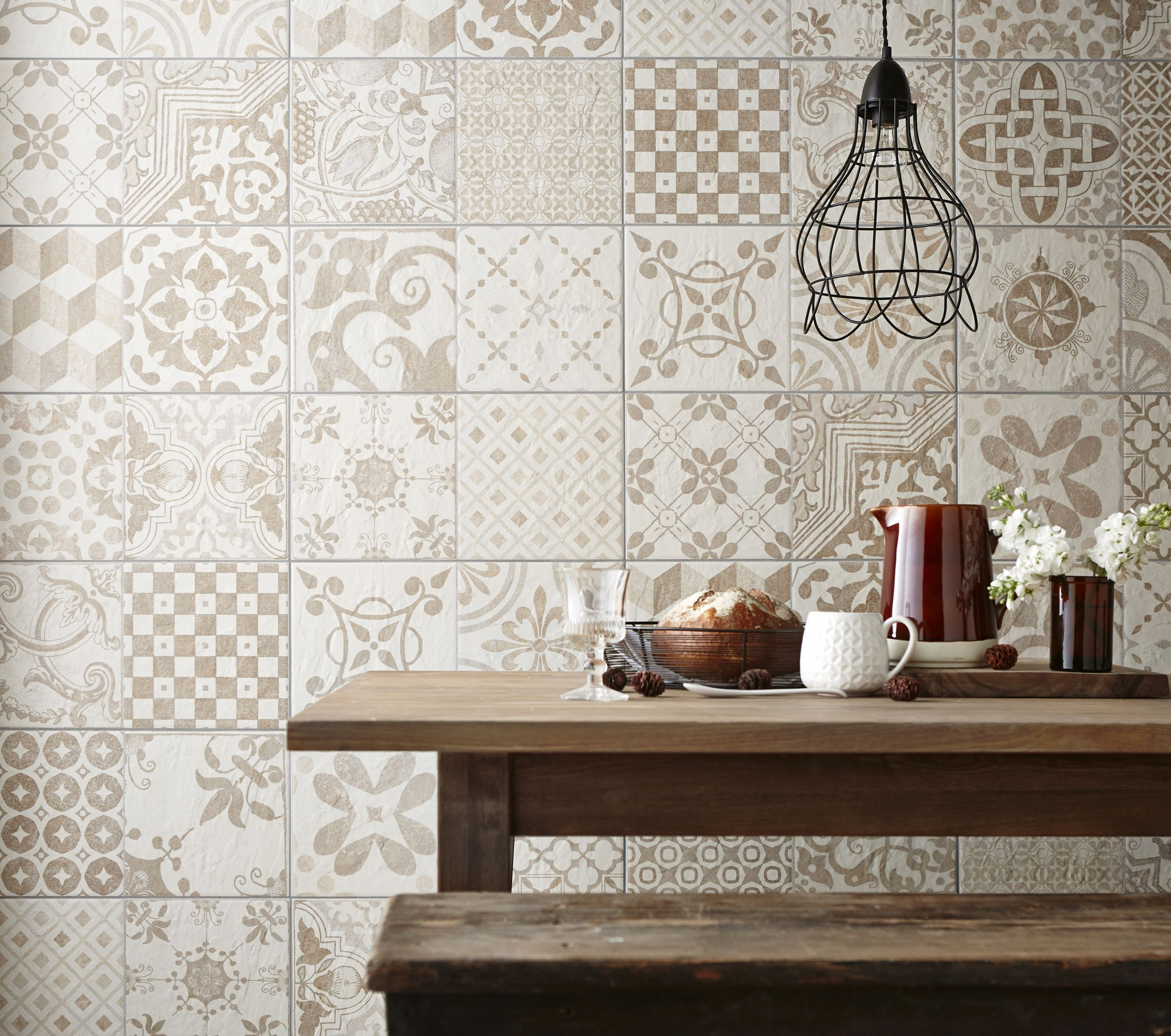 Revive 7.75 x 7.75 Ceramic Floor and Wall Tile in Leaf