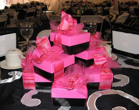 Gift Box Centerpieces Luncheon Decoration Event Decor Photo Box