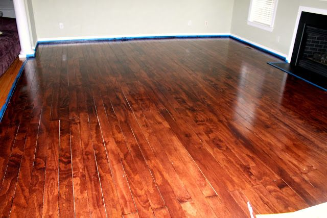 Plywood Floors Cut Into 4 Boards And Stained Diy