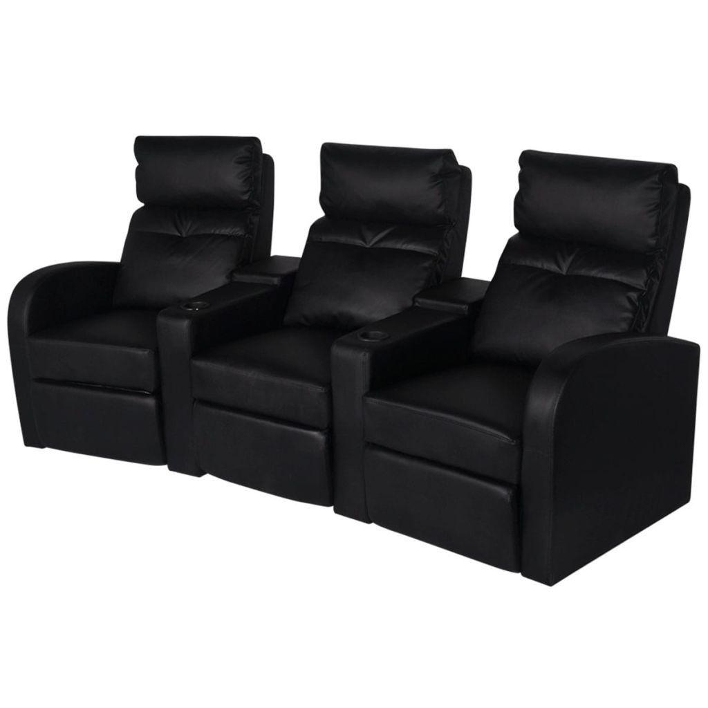 Vidaxl Biosoffa 3 Sits Konstlader Svart Stolar Konstlader Lounge