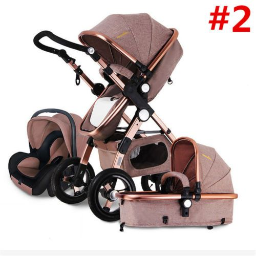 Luxury-3-in-1-Foldable-Baby-Stroller-High-View-Pram ...
