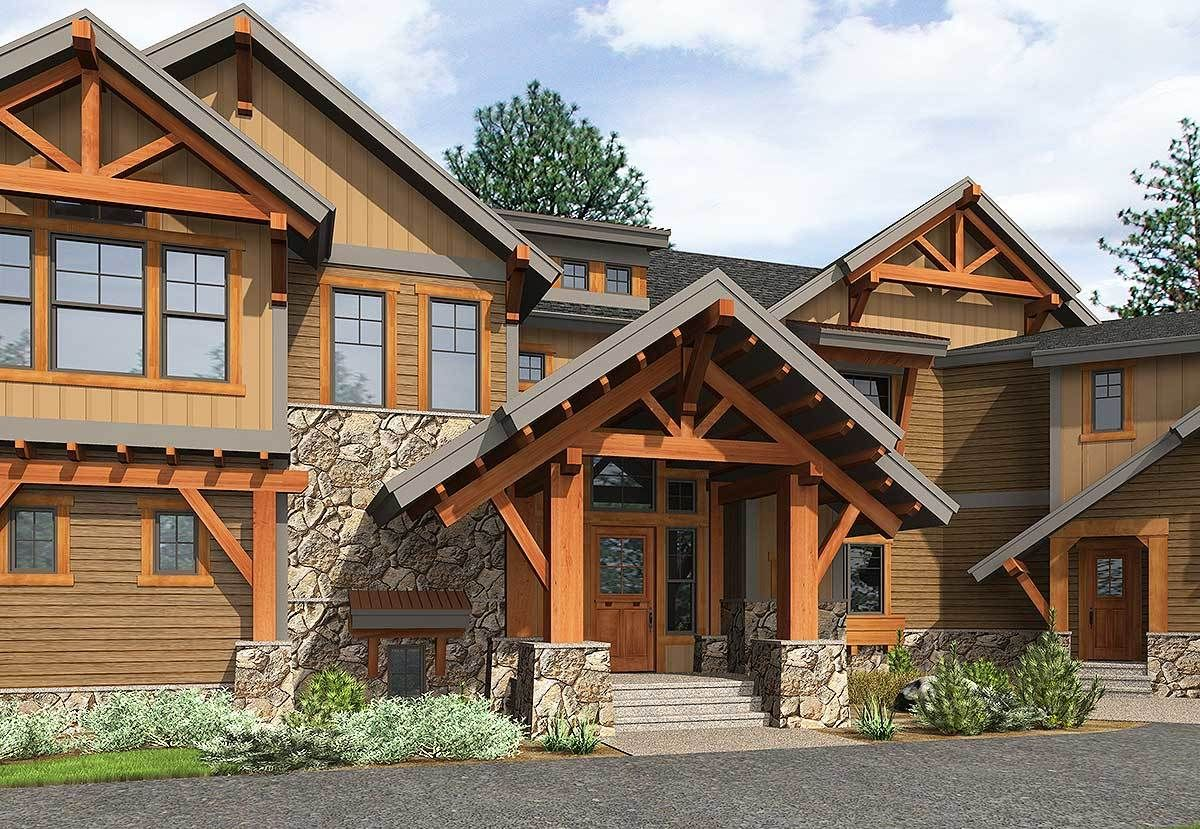 Plan 23612JD: Six Bedroom Mountain Retreat | Mountain ...