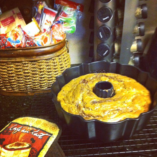 Homemade Chocolate Swirl Cake