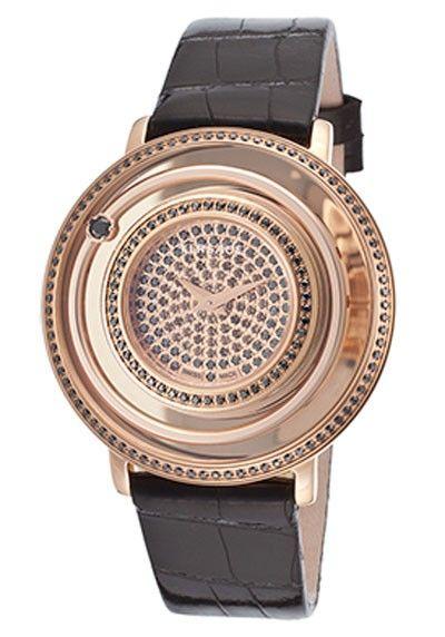 preiswert günstig billig Versace Damenuhr Women's Venus Diamond Black Genuine Alligator