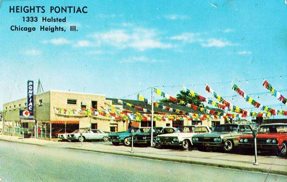 Old Photo Chicago Heights Illinois Heights Pontiac Auto Dealership Chicago Heights Old Photos Chicago
