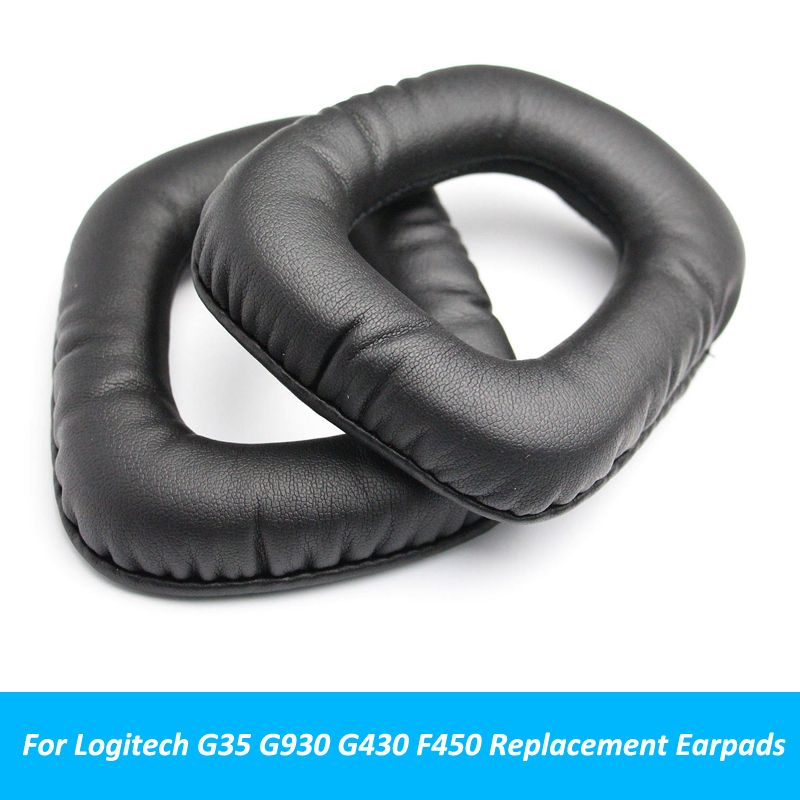 Black Replacement Ear Pads Cushion Earpads Parts For Logitech G35