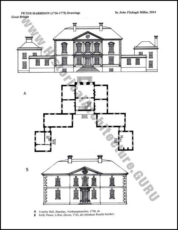 The Work Of Peter Harrison Vintage House Plans Historical Architecture Architectural Floor Plans