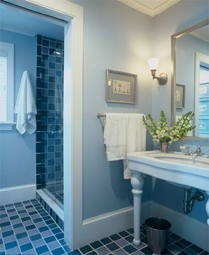 Help Decorating Bathroom With Blue Tile (PIP)