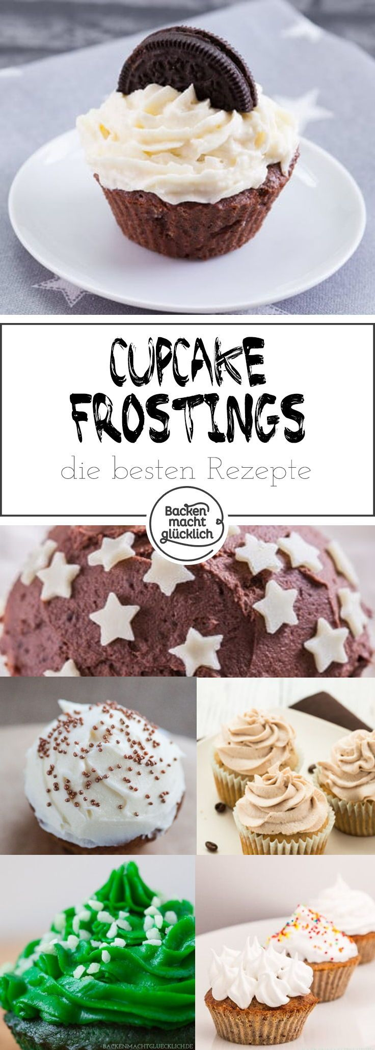 Cupcake Frostings und Toppings | Backen macht glücklich