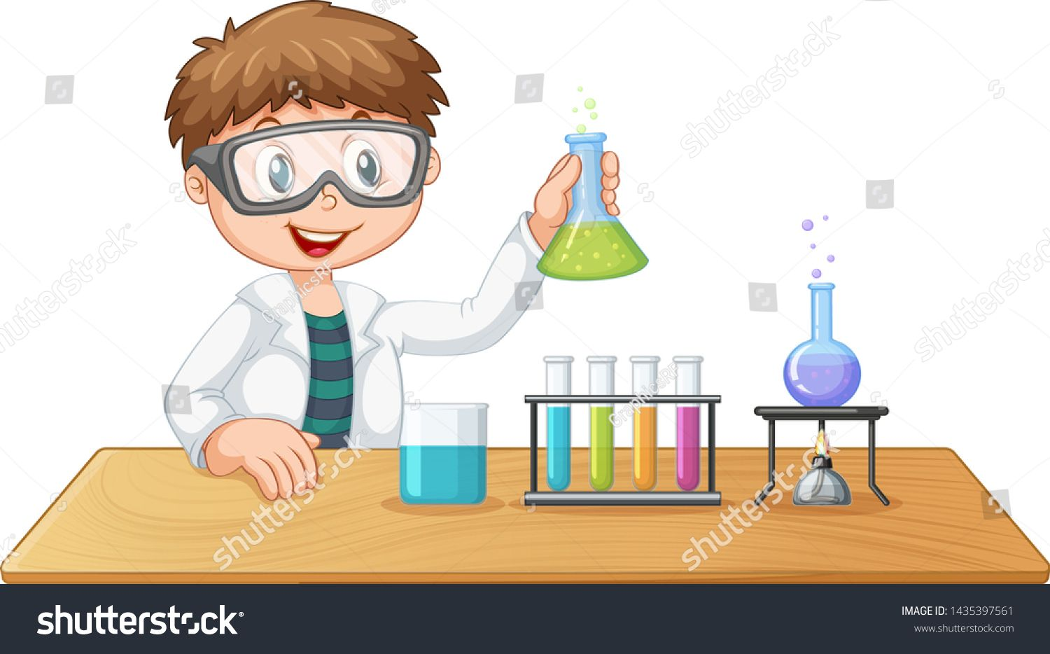 A Boy In Chemistry Class Illustration Ad Sponsored Chemistry Boy Illustration Class Boy Illustration Chemistry Class Chemistry